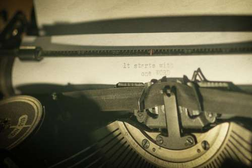 type typewriter letter novel old