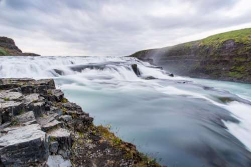 nature landscape water river waves