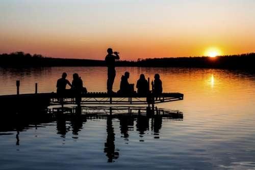 nature landscape sunset people bond