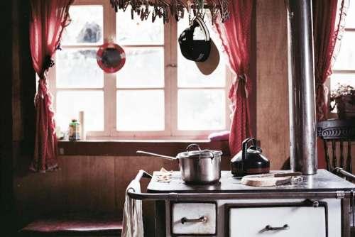 kitchen stove pots cooking