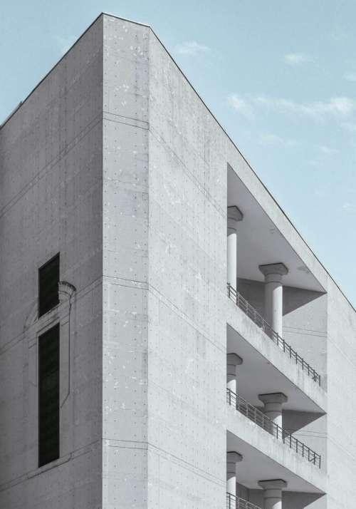 architecture building infrastructure design blue
