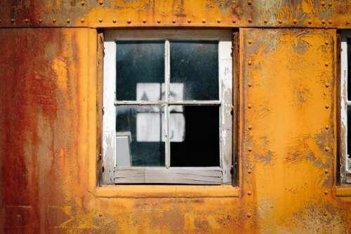 steel wall metal glass window