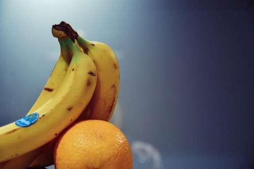 bananas orange fruits food healthy