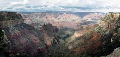 grand canyon panorama view nature hiking