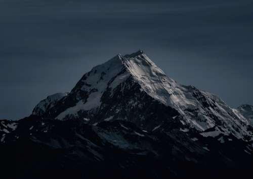 snow mountain summit scenic landscape