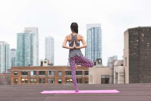 people woman girl yoga mat
