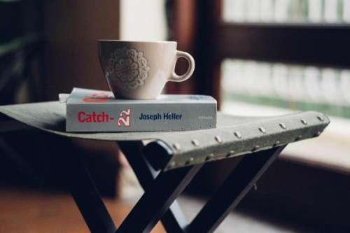 tray coffee cup mug morning