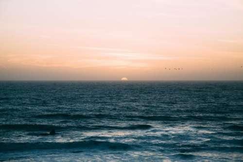sea water ocean wave horizon