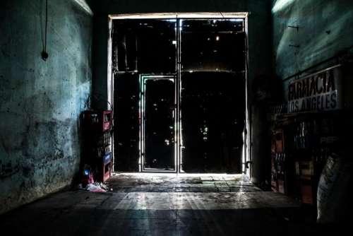 dark night storage stock room
