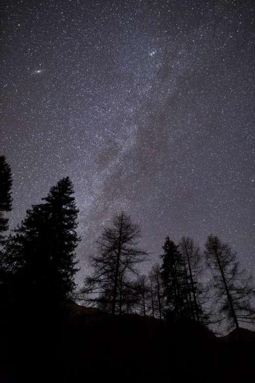 stars dark night constellation nature