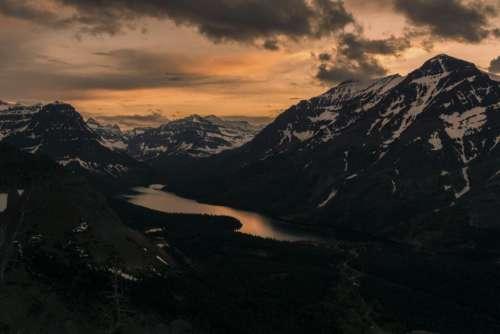 nature landscape mountain clouds sky