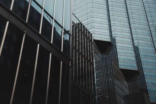 architecture building infrastructure dark glass