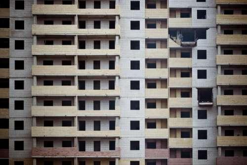 building urban architecture bricks yellow