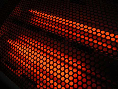 abstract glowing pattern hot industrial