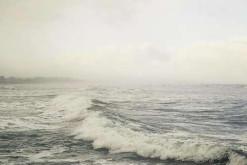 ocean sea waves water sky