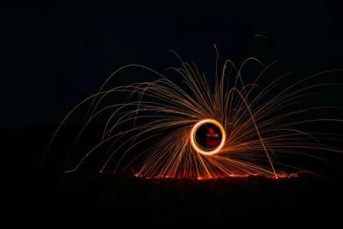 still fireworks light show flames