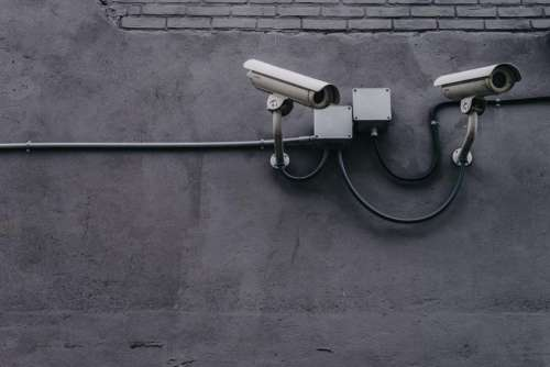 concrete wall pipe cctv camera