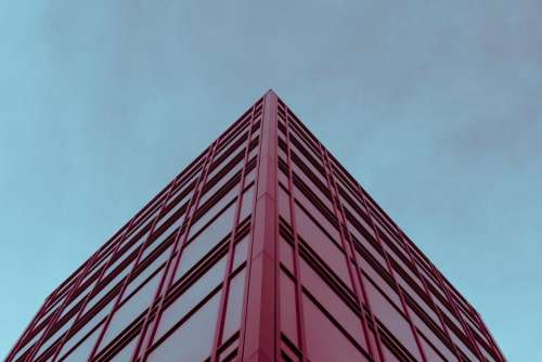 blue sky architecture red