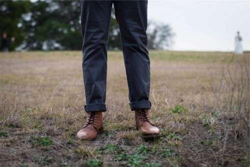 boots shoes pants folded fashion