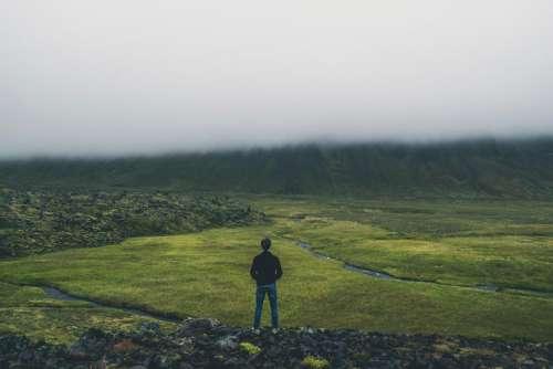 mountain highland green grass landscape