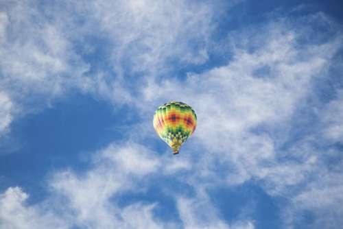 nature landscape clouds sky parachute