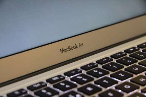 laptop apple macbook computer keyboard
