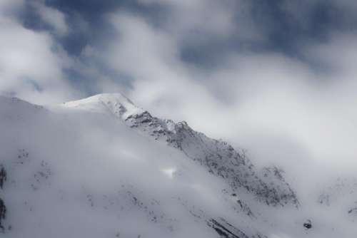 mountain valley snow cold winter
