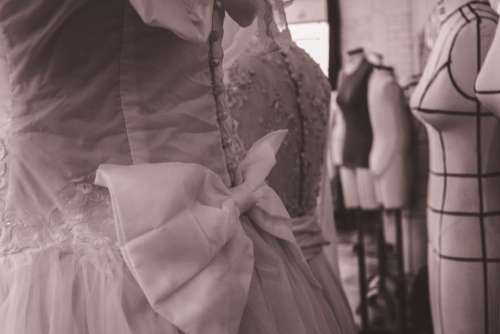 dress clothing ribbon store black and white
