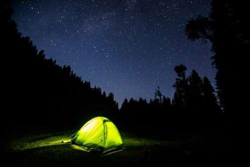 dark night blue sky stars