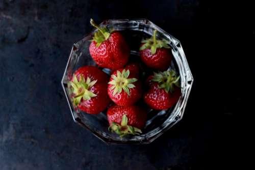 food eat fruits strawberries bowl