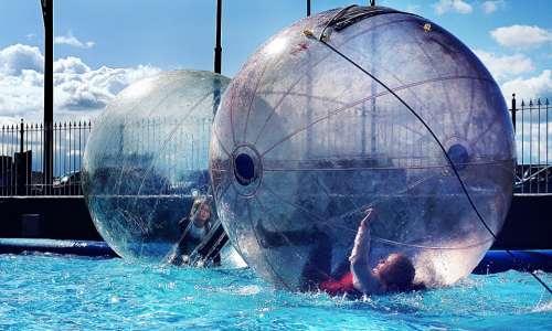 water ball water pool children summer