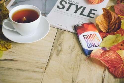 morning tea hot drink magazine