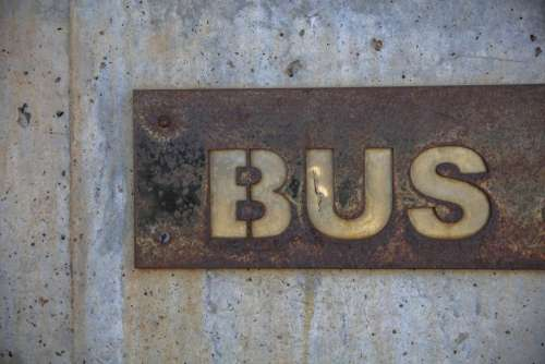 wall metal steel bus street