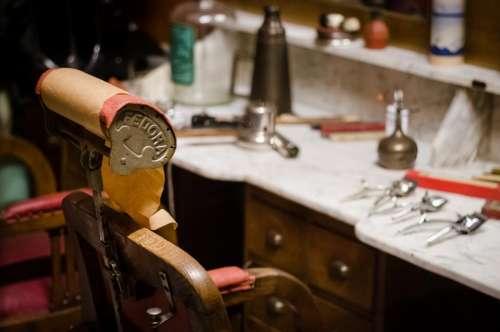 barber shop chair grooming scissors