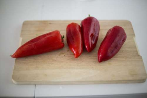 red vegetable food bell chili