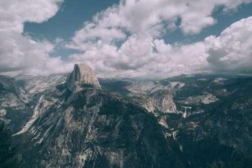 mountains landscape nature cliff hills