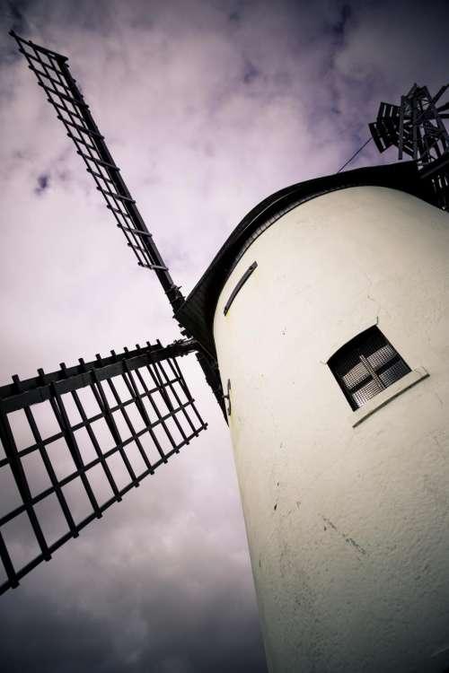 nature sky clouds purple windmill