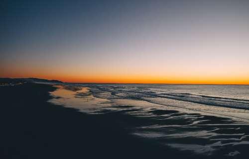 sunset california beach sea ocean