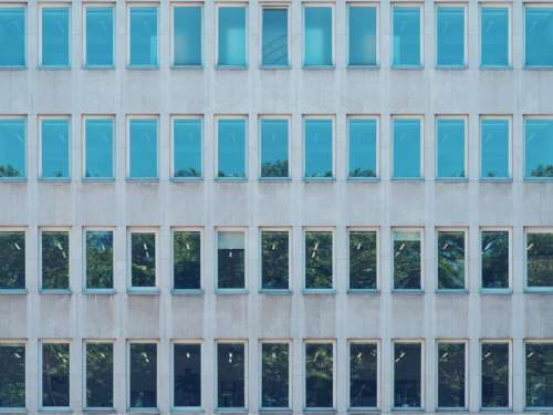 architecture blue building infrastructure facade
