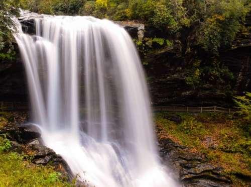 nature falls waterfalls water green