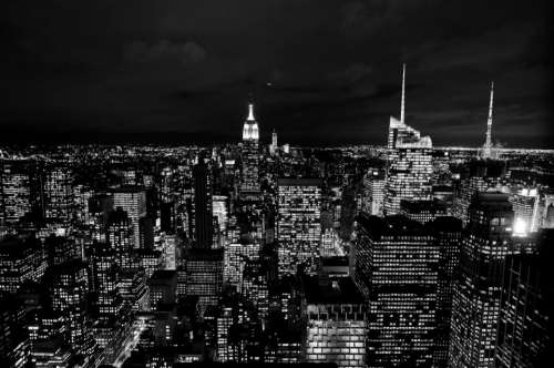 new york city dark night lights