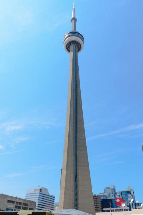 city blue sky buildings tower