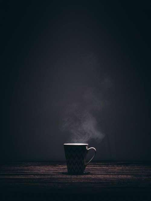 cup mug steaming smoke coffee