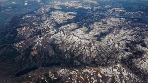 aerial view mountain nature landscape