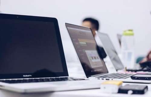 laptop computer apple macbook room