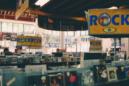 record shop store music magazine