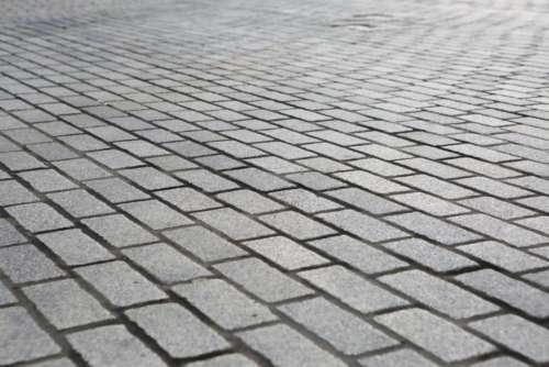 sidewalk path cobblestone city urban
