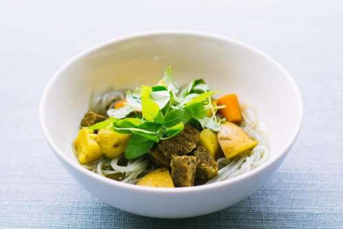 food dish vegetable meat white