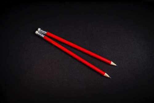 red pencil write art drawing