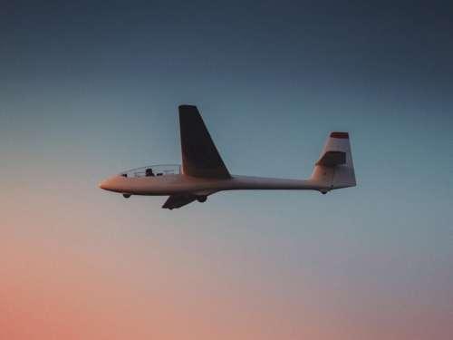 airplane glider flying transportation travel